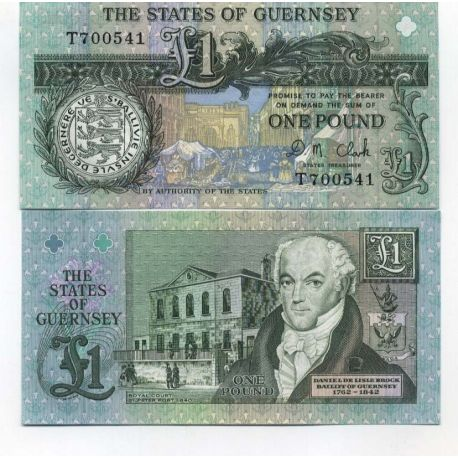 Billets collection Guernesey Pk N° 52 - 1 Pound