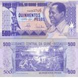 Collection of Banknote Guinea Bissau Pick number 12 - 500 Peso 1990