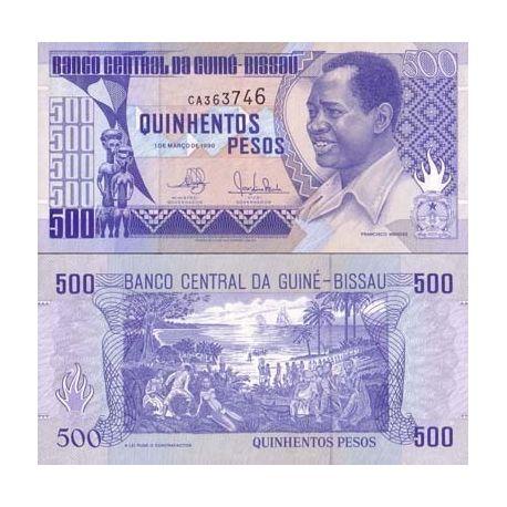 Billets de collection Billet de banque Guinee Bissau Pk N° 12 - 500 Pesos Billets de Guinée Bissau 4,00 €