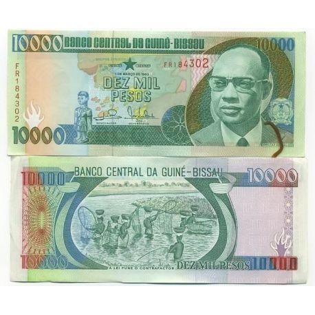 Billets de collection Billets banque Guinee Bissau Pk N° 15 - 10000 Pesos Billets de Guinée Bissau 6,00 €