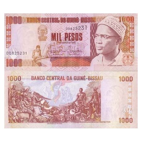 Billets de collection Billets collection Guinee Bissau Pk N° 13 - 1000 Pesos Billets de Guinée Bissau 3,50 €