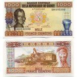 Los billetes de banco Guinea Francés Pick número 32 - 1000 FRANC 1985