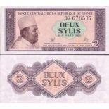 Schone Banknote Franzosisch-Guinea Pick Nummer 21 - 2 Syli 1981