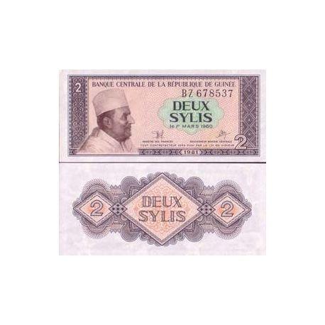 Billets de collection Billet de banque Guinee Francaise Pk N° 21 - 2 Sylis Billets de Guinée Française 3,50 €