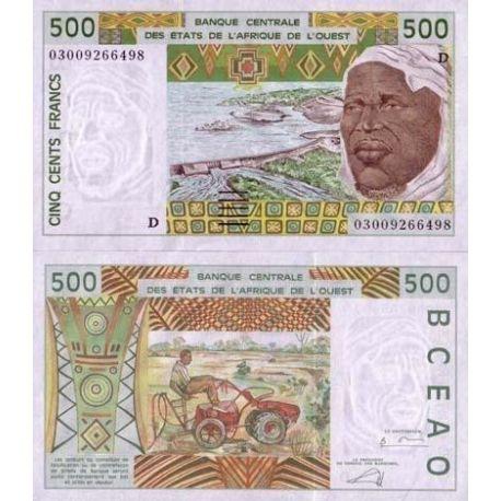 Billets banque Afrique De L'ouest Mali Pk N° 410 - 500 Francs