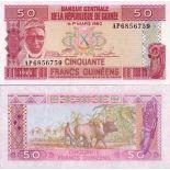 Billets de banque Guinee Francaise Pk N° 29 - 50 Francs
