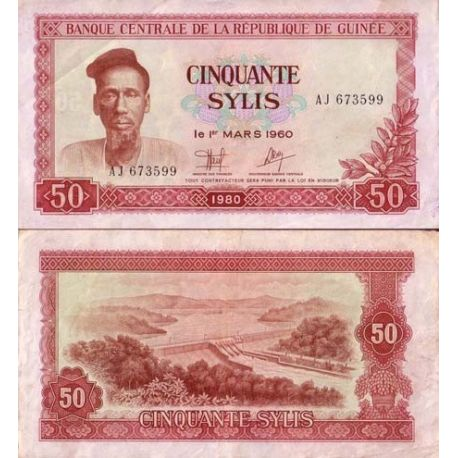 Billets collection Guinee Francaise Pk N° 25 - 50 Sylis