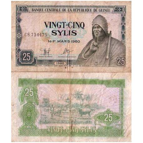 Guinee Francaise - Pk N° 24 - Billet de 25 Sylis