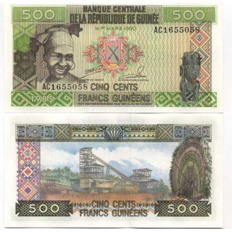 Guinea Francaise - Pk Nr. 31-500 Franken Hinweis