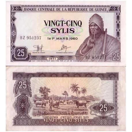 Billets de collection Billet de collection Guinee Francaise Pk N° 17 - 25 Sylis Billets de Guinée Française 2,00 €