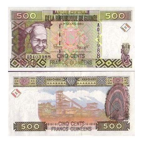 Guinea Francaise - Pk Nr. 36-500 Franken Hinweis