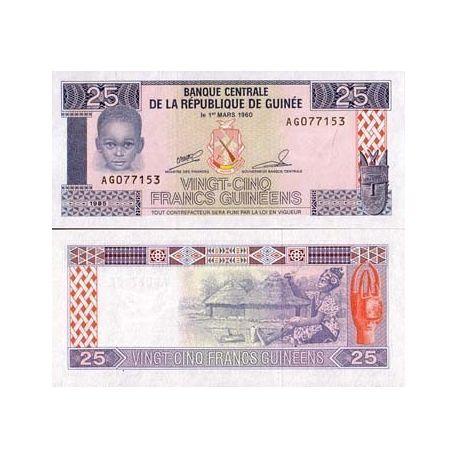 Guinea Francaise - Pk Nr. 28-25 Franken banknote