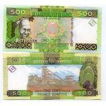 Colección Billetes Guinea Francés Pick número 39 - 500 FRANC 2006