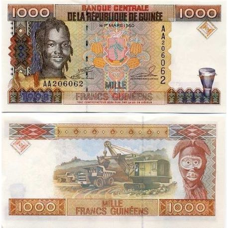 French Guiana - Pk: # 37 - 1000 Franks ticket