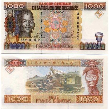 Guinea Francaise - Pk Nr. 37-1000 Franken banknote