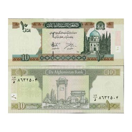 Billets de collection Billets collection Afghanistan Pk N° 67 - 10 Afghanis Billets d'Afghanistan 2,00 €