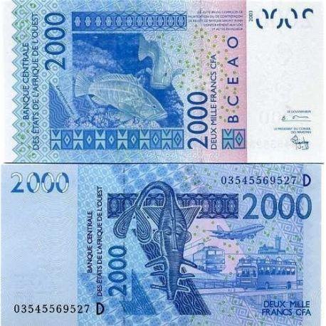 Afrique De L'ouest Mali - Pk N° 416 - Billet de 2000 Francs