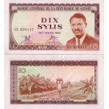 Sammlung von Banknoten Franzosisch-Guinea Pick Nummer 16 - 10 Syli 1971