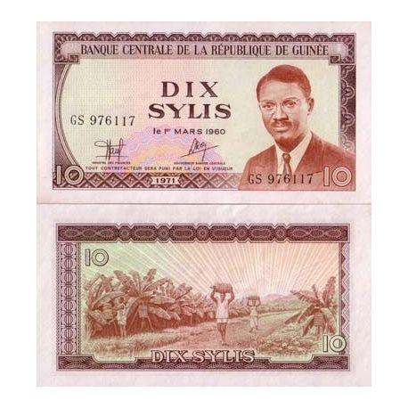 Guinee Francaise - Pk N° 16 - Billet de 10 Sylis