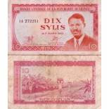Precioso de billetes Guinea Francés Pick número 23 - 10 Syli 1980