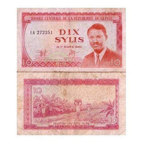 Guinee Francaise - Pk N° 23 - Billet de 10 Sylis