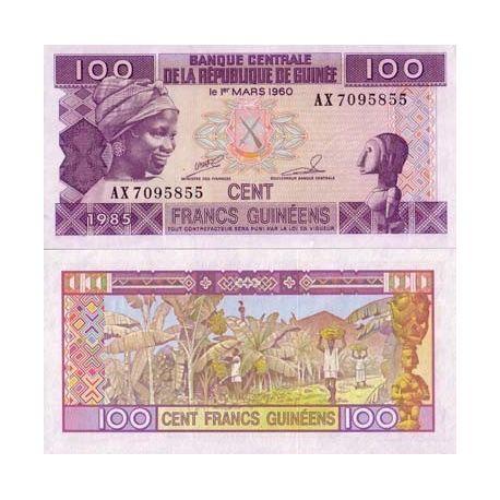 Guinea Francaise - Pk Nr. 30-100-Franken-banknote