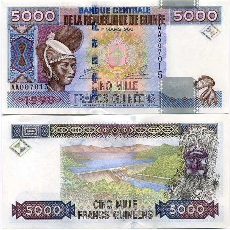 Billets collection Guinee Francaise Pk N° 38 - 5000 Francs