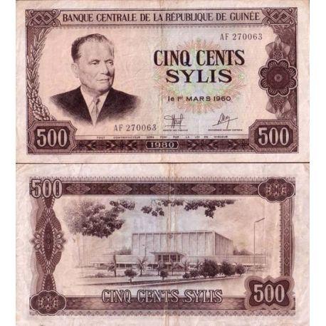 Guinee Francaise - Pk N° 27 - Billet de 500 Sylis