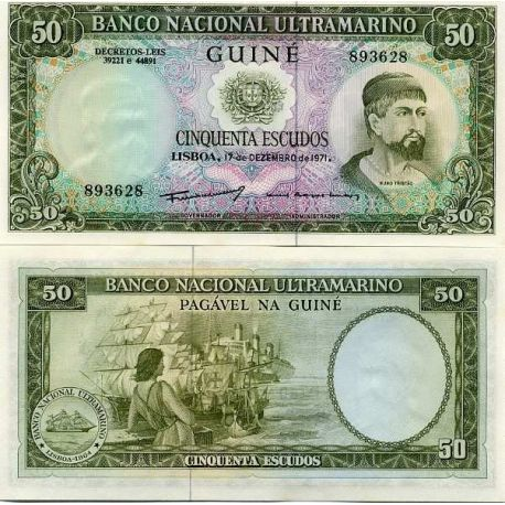 Guinee Portugaise - Pk N° 44 - Billet de 50 Escudos
