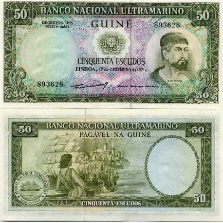 Portuguese Guinea - Pk No. 44 - 50 Note Escudos