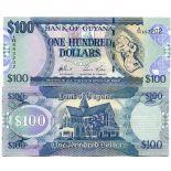 Sammlung von Banknoten Guyana Pick Nummer 36 - 100 Dollar