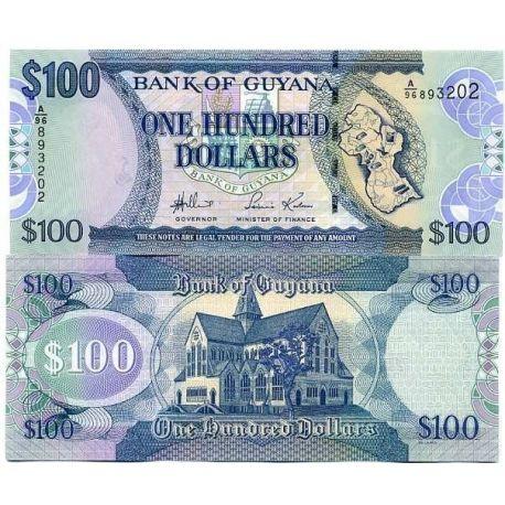 Billets de collection Billets de banque Guyana Pk N° 36 - 100 Dollars Billets du Guyana 3,00 €