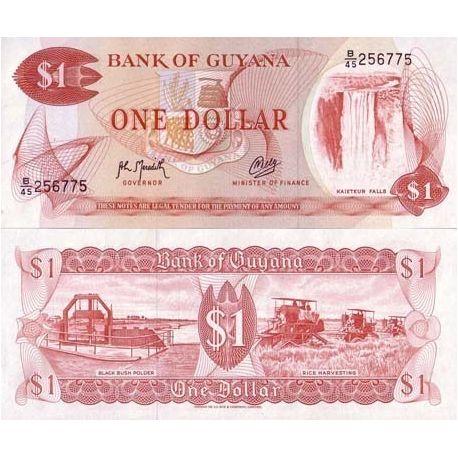 Guyana - Pk No. 21 - 1 Dollar Ticket