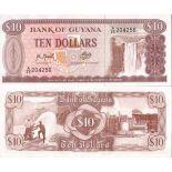 Beautiful banknote Guyana Pick number 23 - 10 Dollar 1966