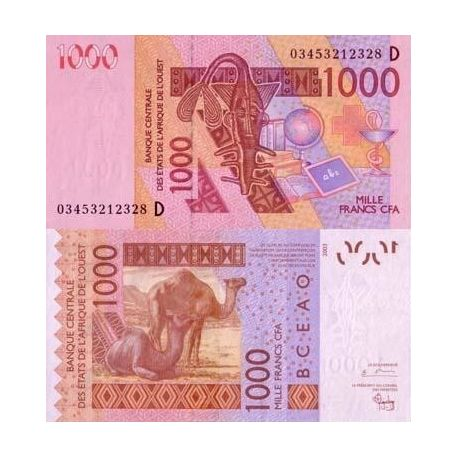 Afrique De L'ouest Mali - Pk N° 415 - Billet de 1000 Francs