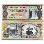 Beautiful banknote Guyana Pick number 30 - 20 Dollar 1996