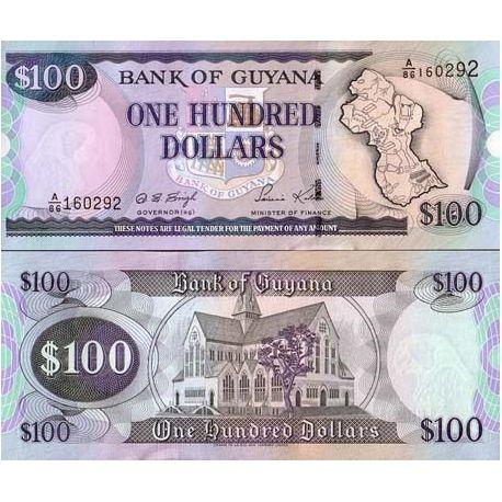Billet de banque Guyana Pk N° 31 - 100 Dollars