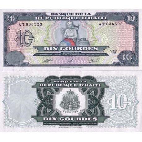 Billets de collection Billets collection Haiti Pk N° 256 - 10 Gourdes Billets d'Haiti 6,00 €