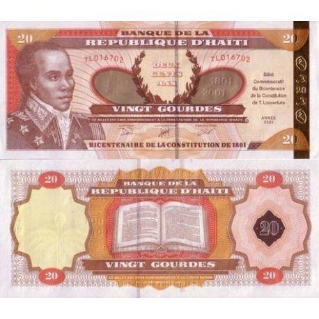 Billets de collection Billet de banque Haiti Pk N° 271 - 20 Gourdes Billets d'Haiti 5,00 €