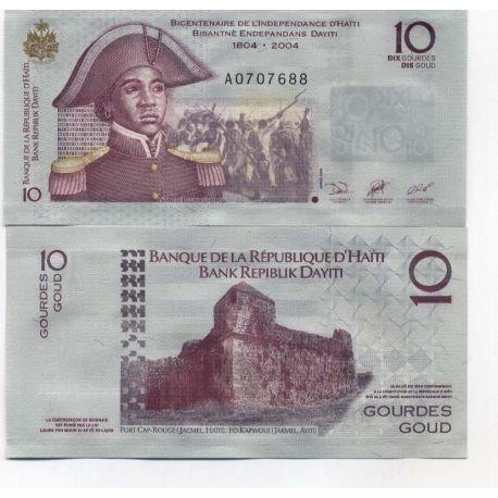 Billets de collection Billet de collection Haiti Pk N° 272 - 10 Gourdes Billets d'Haiti 2,50 €