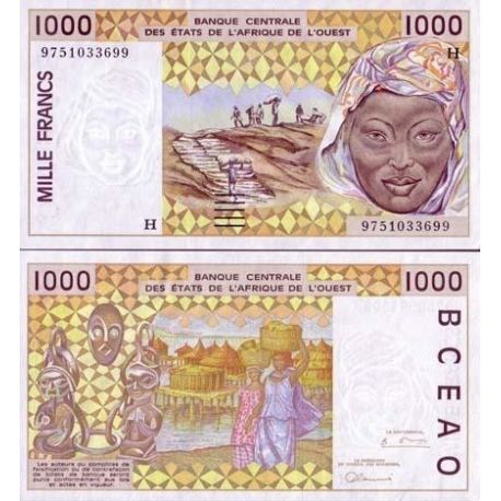West Africa Niger - Pk # 611 - ticket 1000 Francs