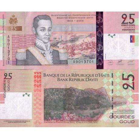 Billets de collection Billets collection Haiti Pk N° 273 - 25 Gourdes Billets d'Haiti 7,00 €