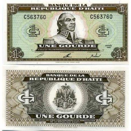 Billets de collection Billet de banque Haiti Pk N° 259 - 1 Gourdes Billets d'Haiti 6,00 €