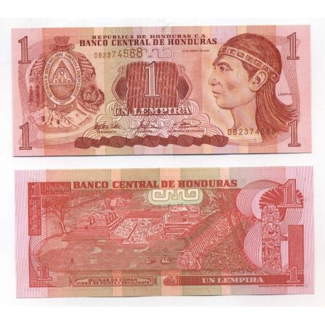 Billets de collection Billets collection Honduras Pk N° 84 - 1 Lempira Billets du Honduras 1,50 €