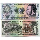 Banknote collection Honduras Pick number 85 - 5 Lempira