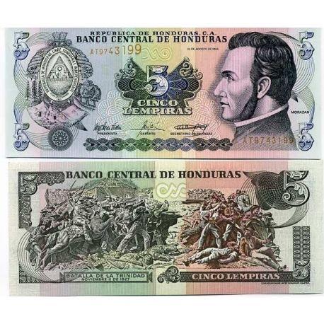 Billets banque Honduras Pk N° 85 - 5 Lempiras