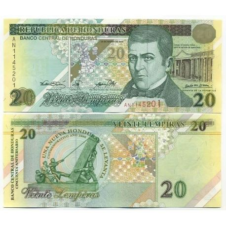 Billets de collection Billet de collection Honduras Pk N° 83 - 20 Lempiras Billets du Honduras 11,00 €