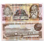 Billets de banque Honduras Pk N° 82 - 10 Lempira