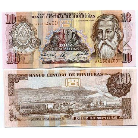 Honduras - Pk N° 82 - Billet de 10 Lempira