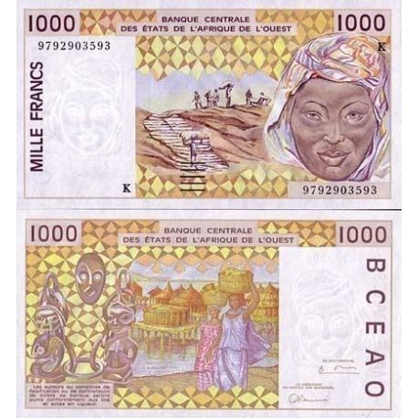 West Africa Senegal - Pk # 711 - ticket 1000 Francs